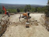 <br>Excavation for the vaulted stone wine celmlar