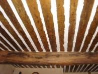 <br>Old provencal ceiling of wood and plaster