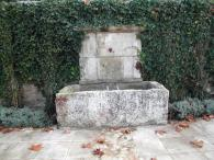 <br>Fountaine with old stone drinking trough